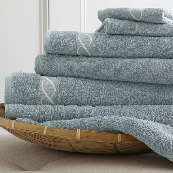 Toallas de baño con cenefa Jacquard bordada, toalla con cenefa jacquard
