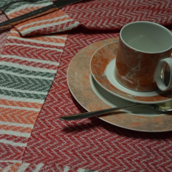 camino de mesa, mantel en jacquard