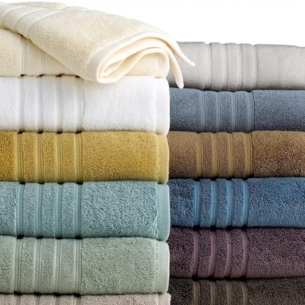 Toallas de baño en rizo 100% algodón con cenefa jacquard de algodón ton / ton. Varios tamaños y colores.
